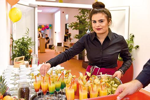 Teilnehmende aus dem juniver-Bereich Event und Gastronomie